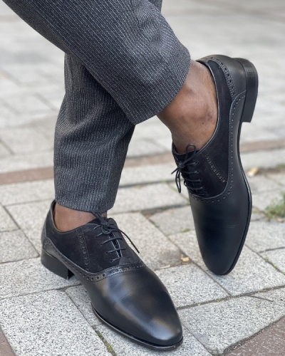 Black Oxfords for Men by GentWith.com with Free Worldwide Shipping